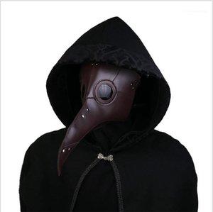 Mask Designer Halloween Middle Ages Beak Mask Medieval Doctor Solid Devil Plague Mask Cosplay Ball Evil