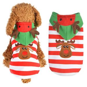 الحيوانات الأليفة عيد الميلاد حلي إلك كلب الملابس حزب عيد الميلاد مخطط شتاء دافئ كلب صغير الملابس الجديدة تصل 2020