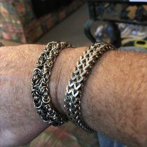 Encantos Guvivi pulsera de cadena del acero inoxidable de los hombres de Steampunk BraceletsBangles hombres pulseira Masculina de Boho de la joyería