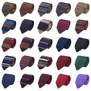 Men Classic Knitted Crochet 7CM Stripe Necktie Wedding Party Business Neck Ties BWTQN0314