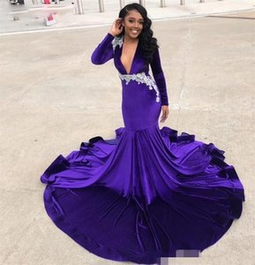 African memaid prom dresses party wear cheap formal evening dresses evening gowns robes de mariée long sleeve