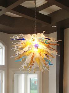 cgjxs Início Flower Pendant Chandelier Outstanding Art Projeto Artesanato Blown Lustres quentes de vidro para quarto sala L