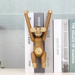 Hanging Wooden Monkey Dolls Nordic Fashion Design Wood Carving Animal Crafts Gifts Home Decoration Accessories Living Room Decor