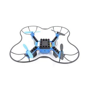 jouet télécommande RC drone DIY bloc de construction des avions de commande à distance l'ensemble quatre axes avions bloc de construction des avions de contrôle à distance ps
