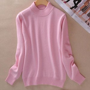Autumn Cashmere Wool Womens Sweater Jersey Pink Beige Warm Soft Women Pullovers Sweaters 2020 Winter Fashion Jumper Female 2XL
