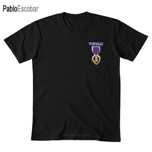 القلب الأرجواني - فيتنام T قميص القلب الأرجواني القلب الأرجواني جرحى جرح جندي ميدالية جائزة حرب القتال