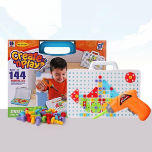 Design Awareness Puzzle Improve Girl Boy Educational Insights Color Toy Jigsaw Puzzls Building Children Drill Y200111 Assembled Screw bbykA
