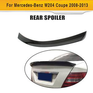 C углеродного волокна класса Задний Магистральные загрузки Спойлер Wing Lip для Mercedes Benz W204 C204 C63 AMG C200 C250 C300 2 двери купе 2008-2014