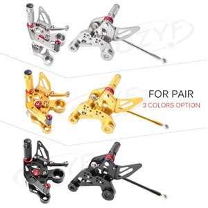 CNC Adjustment Rider Motorcycle Rearset Rear Set Footpegs Footrest For MT-09 FZ-09   MT09 FZ09 2014 2020 2020