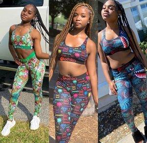 Tasarımcı Ethika Kadınlar Mayo Yelek Swim Uzun Pantolon 2 Adet Set Eşofman Patchwork Kamuflaj Mayo Pantolon Spor