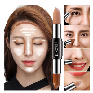 2020 2 In 1 Double-End Contour Concealer Makeup Highlighter Bronzer Concealer Stick Face Makeup Cream Pen Contour Palette