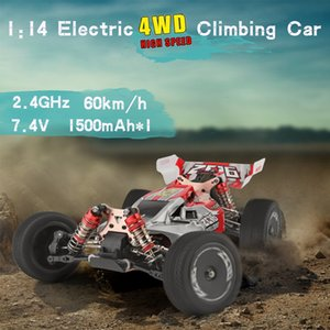 WLtoys 1 14 144001 RTR 2.4GHz RC Car Scale Drift Racing Car 4WD Metal Chassis Gear Hydraulic Shock Absober USB Charging Vehicle T200908