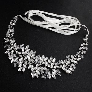 Handmade Rhinestone Belt Wedding Bridal Belt Sashes for Bridesmaid Dress Beaded Belts EIG88