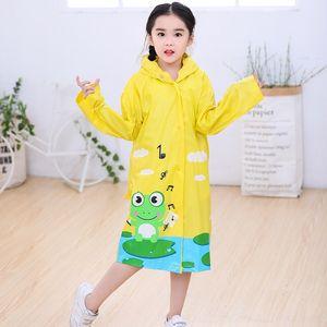 Ih6i6 Frog split Breathable environmental protection breathable split raincoat with schoolbag batch fashion raincoat waterproof PVC