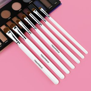 7 (suit) HappyMakeup eyeshadow Brushes Portable 4 colors For Foundation Powder Blush Eyeshadow Make Up Brush Cosmetics Beauty