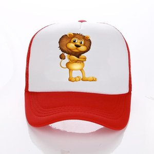 Family Matching Trucker Caps Dad Mom Caps Cool Happy Hat Cap Summer lion Mesh Baseball Hat for Men Women Kid