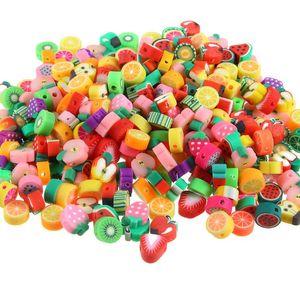 300pcs / lot de la joyería DIY joyería que hace la arcilla del polímero Cuentas mezcla de la fruta Diseño accesorio de la pulsera Rebanadas