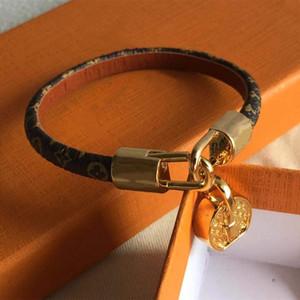 18cm Liebe Mode L ouis Lederarmbänder halten für Männer Frau Designers Paare V Sperre Armband Blume es Muster Armband Schmuck