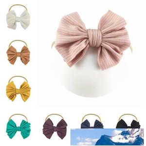 INS soft nylon baby headbands handwork hair bows girls designer headbands newborn designer headband girls headband hair accessories