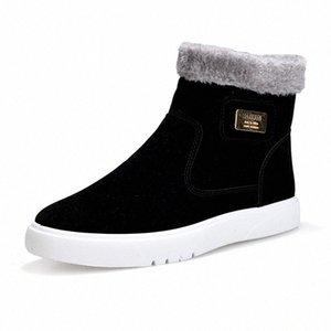 2019 Nouveau plat talon Hommes Bottes chaud Chaussures Homme à tête ronde solide Mode Hommes Couleur hiver Chaussures Casual Taille 39 44 Over The Cuissardes Co gtKn #