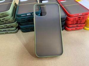 Para iPhone 12 Matte Telefone Transparente Caixa Sinta Back Capa De Contraste Cor De Contraste Protetor à prova de choque para Apple 11 Pro x R XR XS MAX 7 7P 8Plus