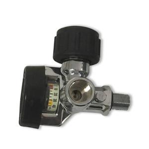 2019 300bar 4500psi Pcp válvula de ar do cilindro de fibra de carbono SCBA cilindro / Paintball Tanque com medidor de pressão Big Acecare