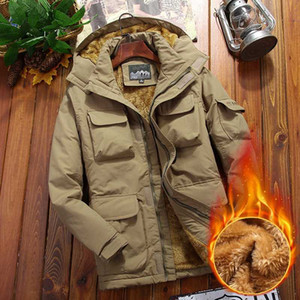 Fashion Men Winter Cotton Padded Clothes 2020 Thicken Fleece Men Hooded Windbreaker Jacket Male Casual Warm Parka Coat Plus Size