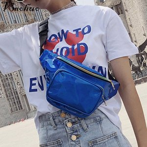 VMOHUO Women PU Leather Belt Zipper Handbag Fanny Waist Pack Shoulder Crossbody Bags Fashion Bling Chest Satchel Bag KhxI#