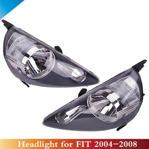 CAPQX 2PCS Front Headlight headlamp head lamp light For FIT JAZZ GD1 GD3 2005 2006 2007 2008 OEM#33101 SAA H51 33151
