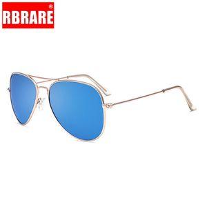 RBRARE 2020 aleación de espejo de metal gafas de sol polarizadas de los hombres de lujo Gafas de sol retro Señora metal Vidrios luneta De Soleil Femme