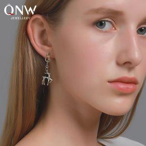 Christmas knotted elk earrings female forest simple deer earrings new personalized ear jewelry