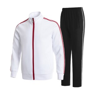 mens tracksuits sportswear for jackets with tracksuit long sleeve casual jogger pants suit clothing 2-piece set Asian size Classic stripes multiple colour