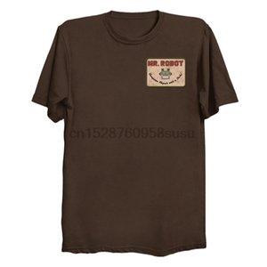 Hombres camiseta Mr. Robot Patch Un cuello de la manga corta de las mujeres camiseta