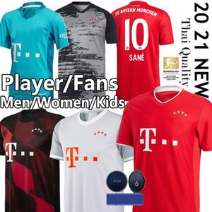 Bayern Munich SANE Maillots de fútbol 20 camiseta de fútbol 21 Lewandowski MULLER KIMMICH Gnabry DAVIES REPRODUCTOR DE LA MUJER HOMBRE INFANTIL camiseta de fútbol