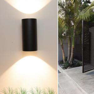 6W COB Открытый Led Wall Light Up Down Dual-Head Настенный светильник цилиндр Крытый балкон фиксатору Водонепроницаемый IP65 нордичными