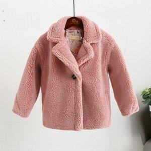 8 couleurs Manteau en fausse fourrure pour enfants bébé ours en peluche Épaissir chaud de vêtements de plein air pour enfants Long Pardessus Vêtements de l'hiver Y14 T200915
