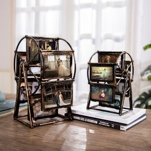 Ferris Wheel Photo Frame 4 Inch 5 Inch Picture Frames Home Decoration Living Room Bedroom Family Wedding Photo Desktop Display C0927