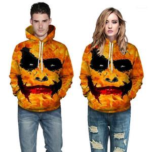 Art und Weise 3D Clown Printed PulloverHoodies der Männer und Frauen Halloween-beiläufige lose Hoodies Halloween Herren Designer Hoodies