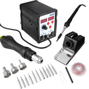 2 In 1 Digital Rework Station Hot Air Gun Soldering Iron 700W Desoldering Soldering Station Heat Gun with US Plug