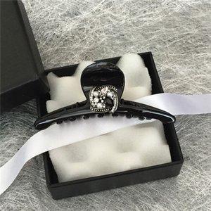 Зажимы для волос Barnettes Vintage для женщин Девушки горный хрусталь акриловый большой размер черный краб кристалл свадебные шпильки аксессуары