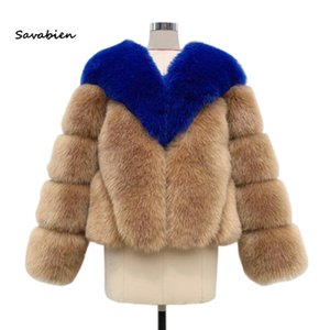 Savabien 2020 Luxury Warm Winter Faux Fur Coat Women Furry Soft Faux Fur Jackets New Ladies Coats Parka Festival Streetwear
