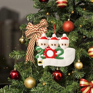 7 styles Fashion Christmas Birthdays Party Decoration Gift Personalized Family Ornament Cartoon design Christmas Tree Hanging Pendant Decor