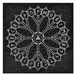 Стиль Скатерть фланель Pad Происхождение Таро 4949cm Game Of Tree руна гадание викинги Астрология Карты Таро Нордик Совет bbyzCt yh_pack