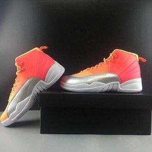 New Chameleon 12 Gratis Red Socks Wntr Gym Pe Michigan PSny 12s Mens-Basketball-Schuh-Turnschuhe Lemonade Schuhe