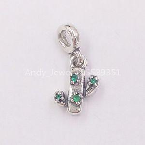 Authentique Argent 925 Perles My Lovely Cactus Dangle Charm Charms bijoux européens Fits Pandora style Bracelets Collier 798372NRG
