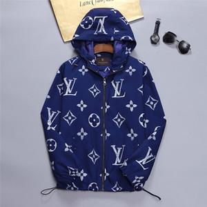 Мужчины Женщины Стилист пальто куртки с капюшоном Толстовка с длинным рукавом осень Спорт молния Ветровка Мужская одежда Плюс Размер Hoodie