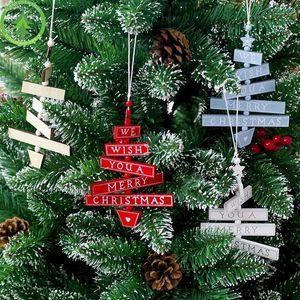 Украшения расписные Висячие Xmas орнаменты Innovative Знаки Wood Letters Christmas Tree Desorations 7vdi 45l2