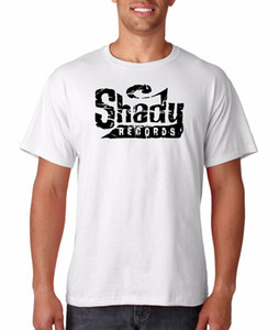 Shady Records Logo-T-Shirt Hip Hop Rap Slim Shady Eminem Detroit Revival Emcees Top-Qualität T Shirts Männer O Neck-stück
