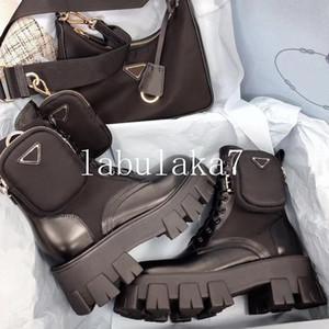 Los diseñadores mujeres Rois botines Martin botas de nylon y de arranque de inspiración militar de combate bouch botas de nylon unido al tobillo con correa