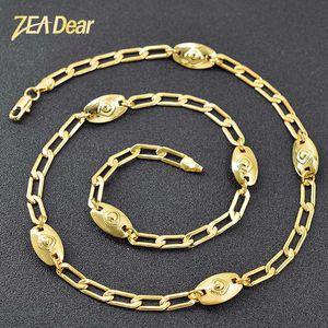 ZEA Дорогой ювелирные изделия 2020 Модные ювелирные изделия Выводы Круглый кулон ожерелье для женщин Ссылка Chain Медь Ожерелье для День рождения Свадьба
